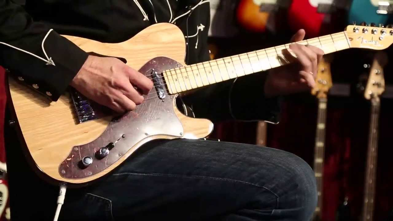 the new fender american deluxe telecaster thinline namm 2014 youtube