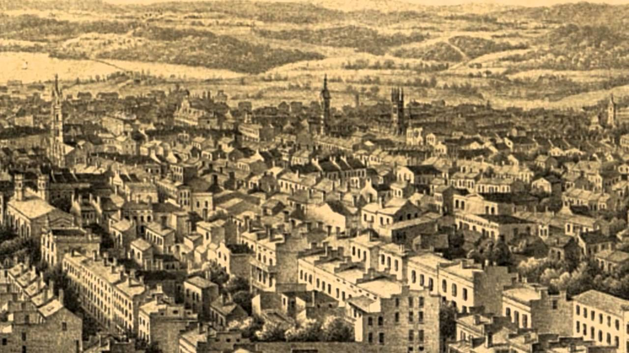 Baltimore City Maryland 1862 Panoramic Bird s Eye View Map 7431