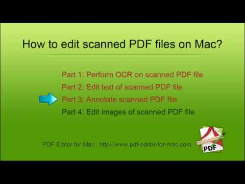 How to Edit scanned PDF documents on Mac? PDF Editor OCR - YouTube