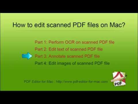 How to Edit scanned PDF documents on Mac? [PDF Editor OCR]