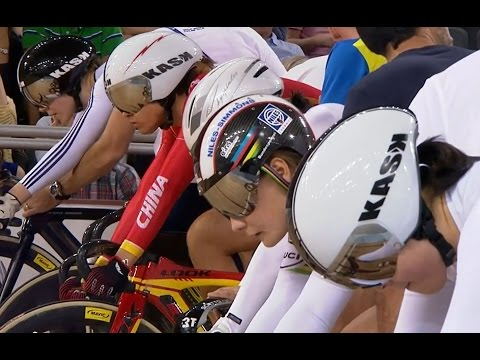 Women's Keirin Final - 2014 Track Cycling World Cup | London
