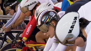 Video Women's Keirin Final - 2014 Track Cycling World Cup | London download MP3, 3GP, MP4, WEBM, AVI, FLV November 2018