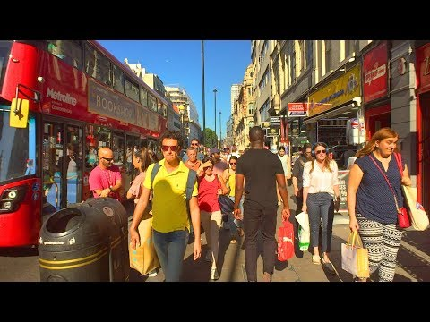 OXFORD STREET LONDON WALK From Marble Arch Station To Tottenham Court Road Station | England