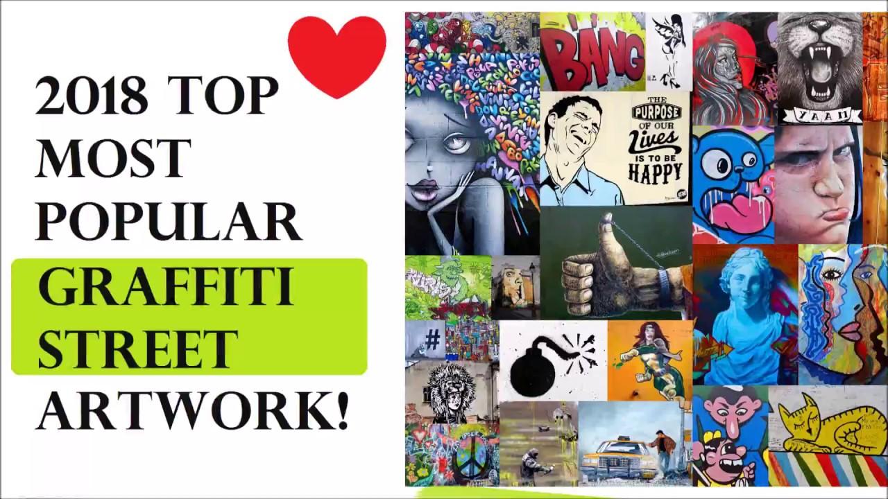 Top 2018 Diy Wall Ideas Urban Street Art Graffiti Collage Prints Video Youtube