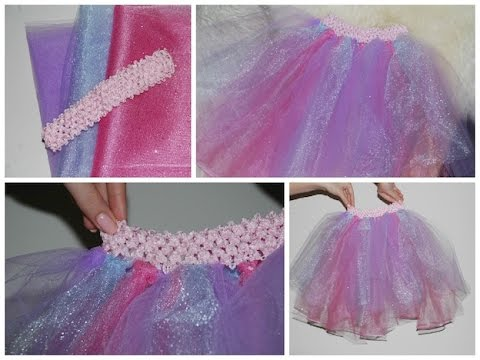 Tutu Dress Skirt Tutorial Easy No Sew