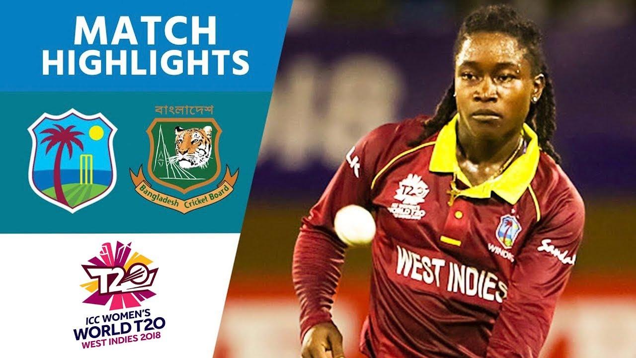 c915d0ba1ad West Indies v Bangladesh - Women s World T20 2018 highlights - YouTube