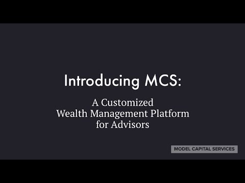 Model Capital's wealth management platform