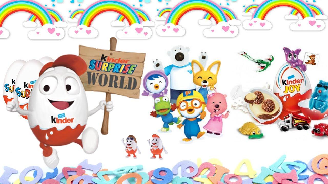 Unboxing Kinder Surprise Eggs Kinder for Boys & Girls Toys Collection #1
