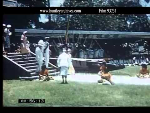Queen's visit to Fiji in 1953.  Archive film 93231