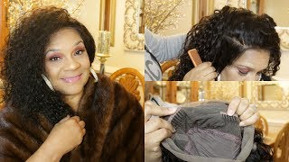 360 Lace Frontal Wigs Brazilian Hair and Makeup on my mom!!! ft. ywigs.com
