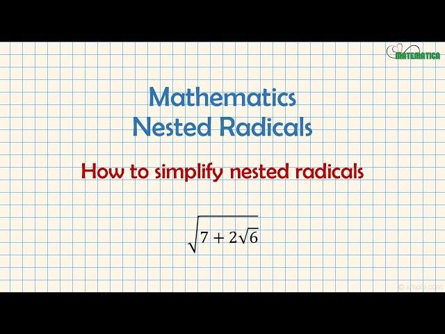 Nested Radicals | Radicali Doppi | Mathematics #9