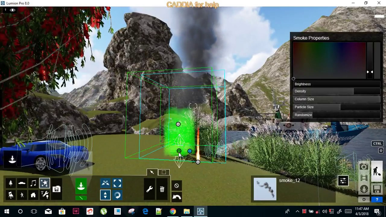 #1G Transport,sound,fire smoke effects adding into scene lumion pro 8 HINDI  tutorial