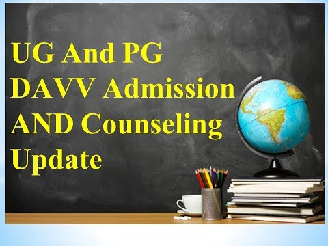 UG and PG Admission DAVV 2017-18