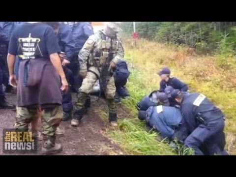 Canadian Police Use Military Tactics to Disperse Indigenous Anti-Fracking Blockade