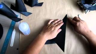 Tutorial~ The 13 Haunted Projects Of Halloween,week#8~origami Box With Witch Hat Lid Part 2