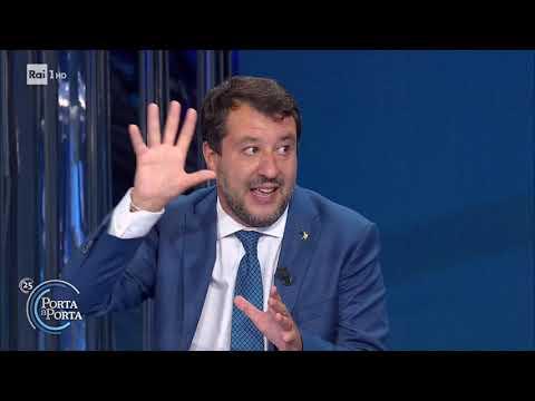 Matteo Salvini: analisi sul voto delle elezioni regionali - Porta a porta 23/09/2020