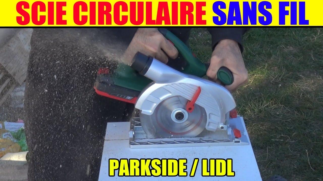 Lidl scie circulaire parkside sans fil phksa 18 li - Top craft scie circulaire table ...