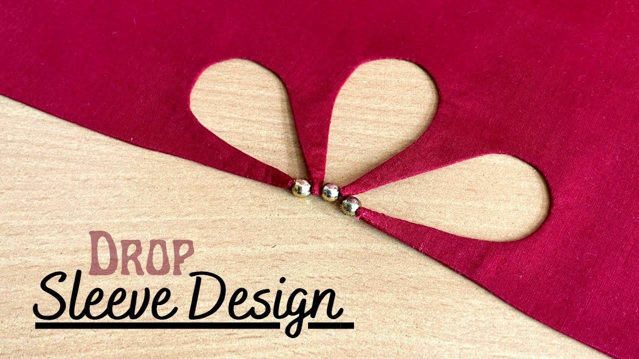 अपनी ड्रेस को दें डिज़ाइनर लुक, यह स्लीव डिज़ाइन बनाएं   Drop Sleeve design, Beautiful sleeve design
