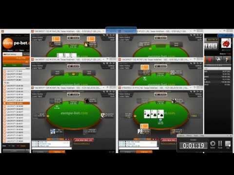 Europebet Poker Tables