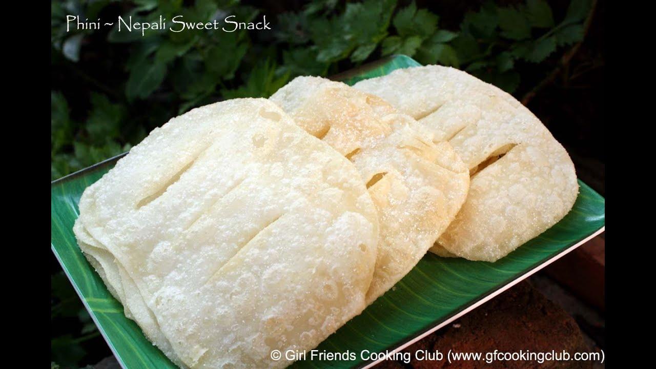Fhini roti newari food nepali style nepali food - YouTube