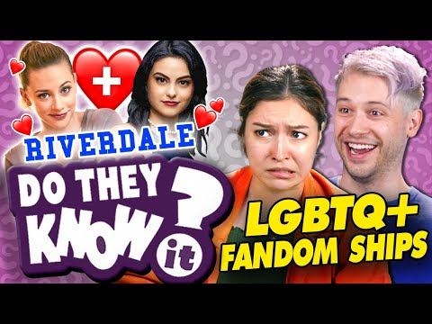 Do YOU Know LGBTQ+ FANDOM SHIPS? Riverdale Avengers Star Wars  Do They Know It? React