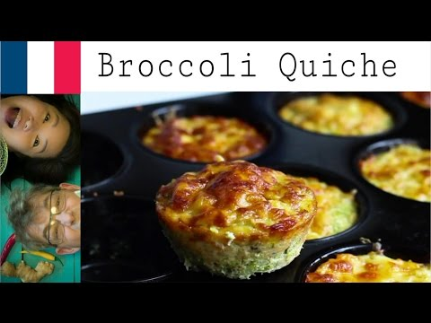 How to make Broccoli quiche (Weight loss recipe part 3/ Snacking)