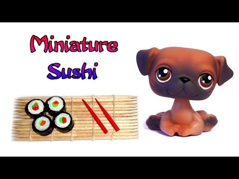 Miniature Doll Sushi - How to Make Dollhouse DIY Food