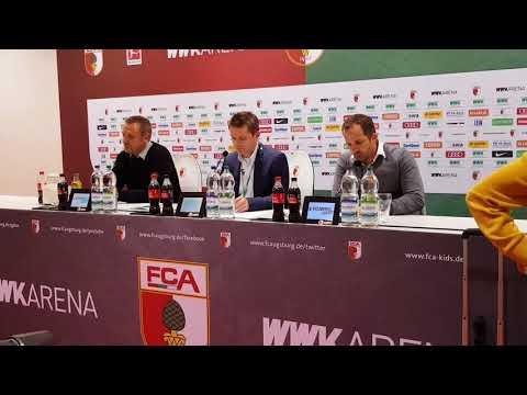 Pressekonferenz zum Spiel FC Augsburg gegen Hannover 96