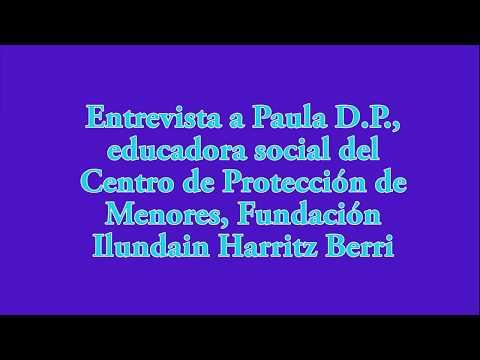 CENTRO DE MENORES   Entrevista A Paula D. P., Educadora Social.