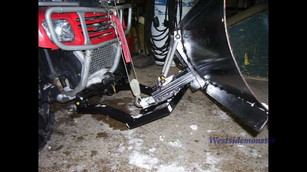 atv snow plow installation