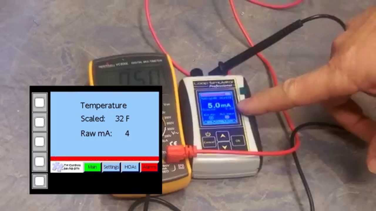 simulating a 4 20 ma or 0 10vdc on a plc input or other analog device youtube [ 1280 x 720 Pixel ]