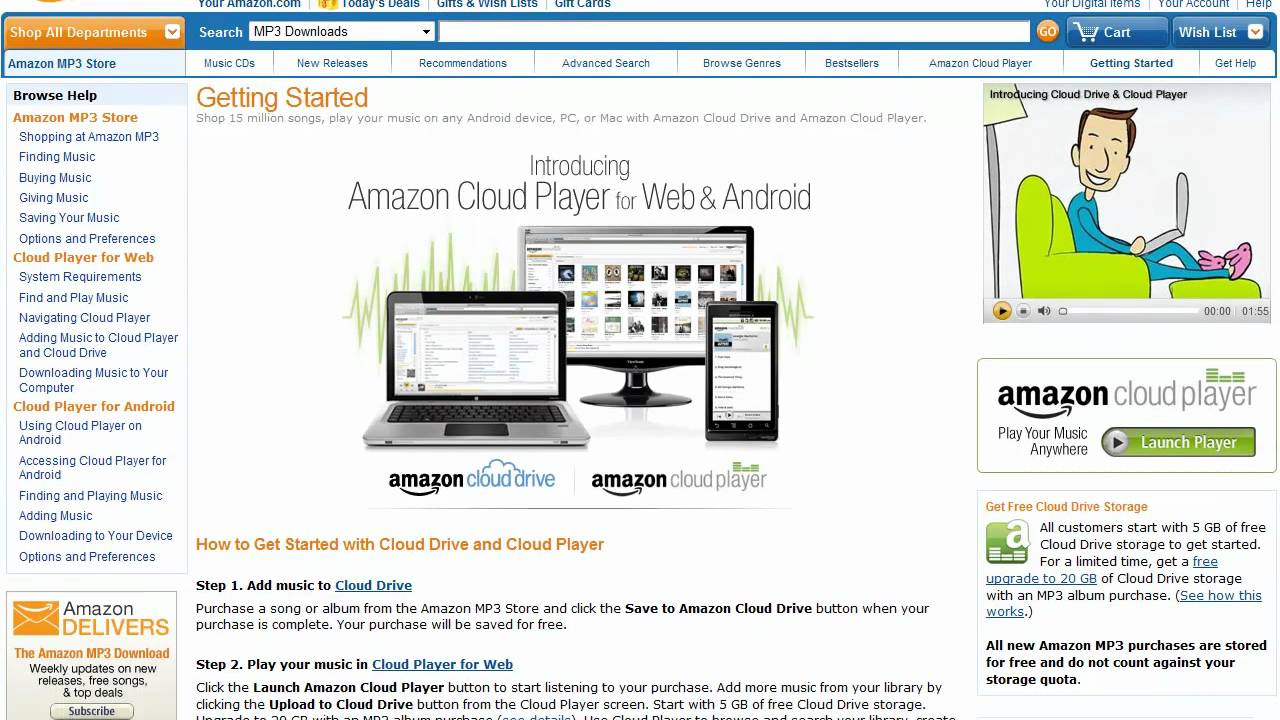 Amazon Cloud and Cloud Player for Android & iOS