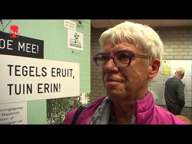 Geertje Bonfrere  over de groenvoorziening en het beheer daarvan in Wyckerpoort Maastricht