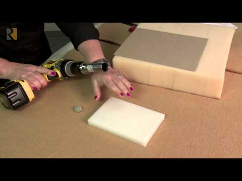 Foam Hole Cutter For Upholstery Youtube