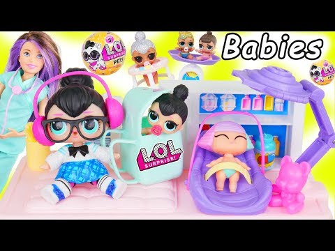 LOL Surprise Dolls + Lil Sisters Spice New Look Visit Barbie Skipper Doctor