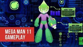Mega Man 11 Gameplay showing the Acid Man Level and Mega Man 11 Aci...