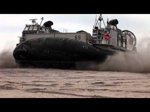 Amphibious Landing - 26th MEU LCACs and AAVs