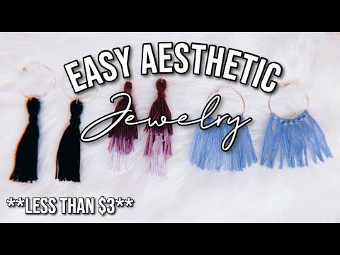 DIY EASY AESTHETIC EARRINGS | Under $5!