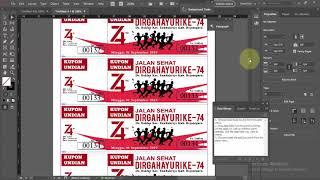 Cara Membuat Penomoran 500 Kupon Undian Jalan Sehat Menggunakan Adobe InDesign