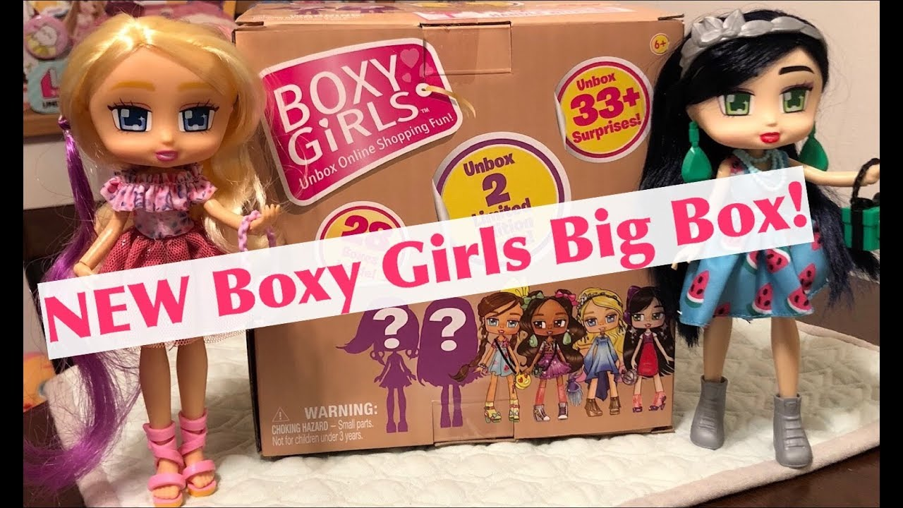 NEW unbox me BOXY GIRLS surprise collectable Fashion youtube dolls
