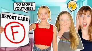 TELLING MY MOM I FAILED 7th GRADE! 😱 BANNED FROM YOUTUBE!