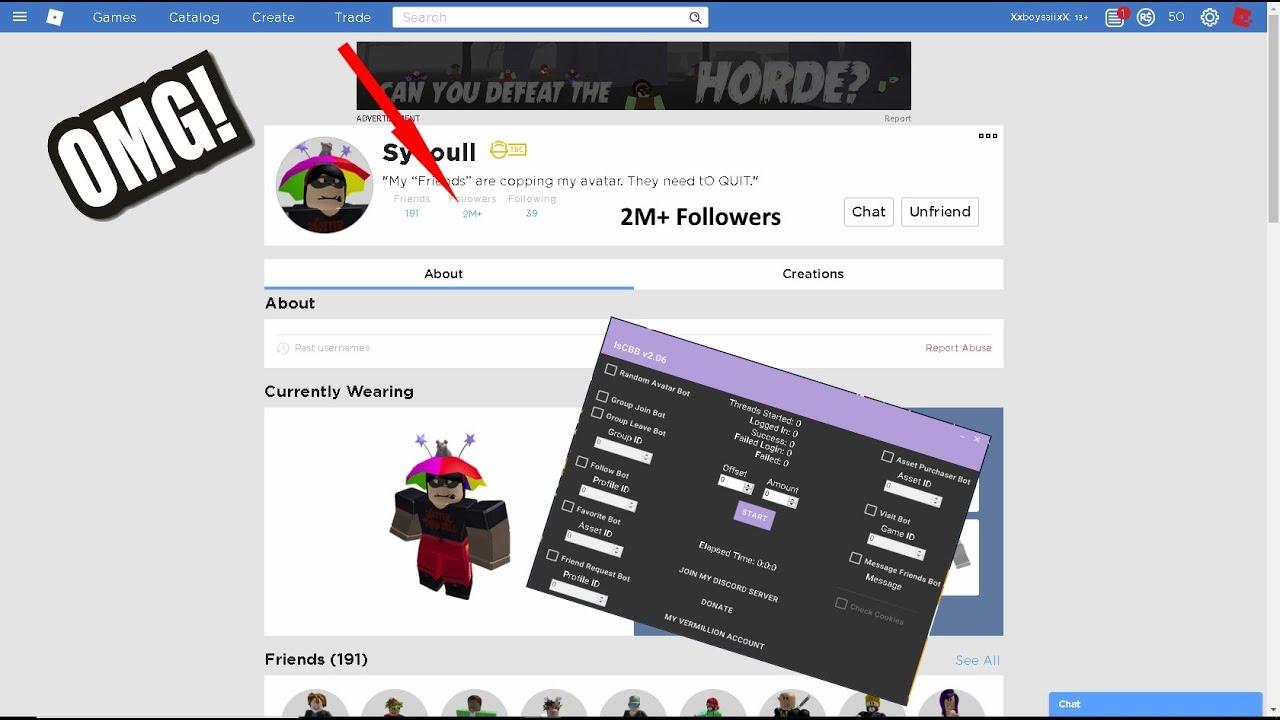Roblox follower bot v3rmillion