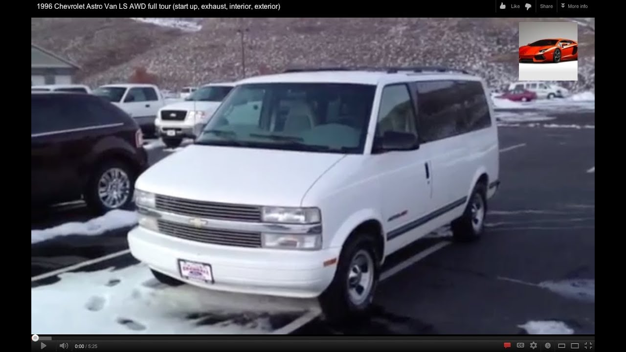 All Chevy 95 chevy astro van : 1996 Chevrolet Astro Van LS AWD full tour (start up, exhaust ...