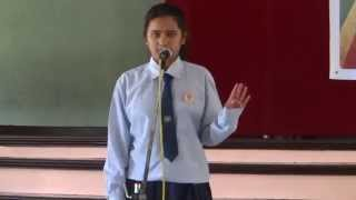 8 Shubhangi Khatri-   Kathmandu University High School   Verses  A Slam Poetry Event 2014