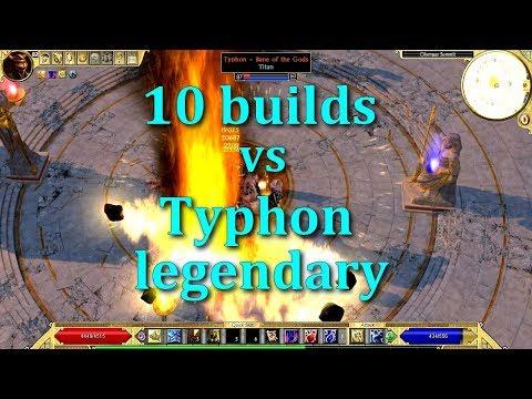 Titan Quest Ragnarok 10 Builds VS Typhon Legendary