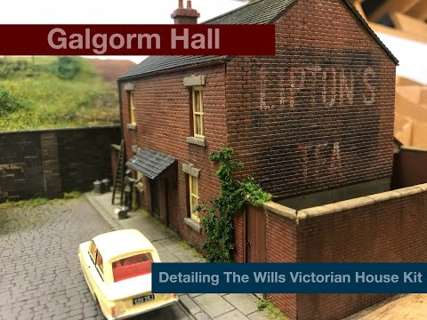 Building A OO Gauge Model Railway: Detailing The Wills Victorian House Kit