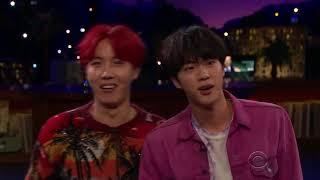 BTS jugando Flinch (The late late show)