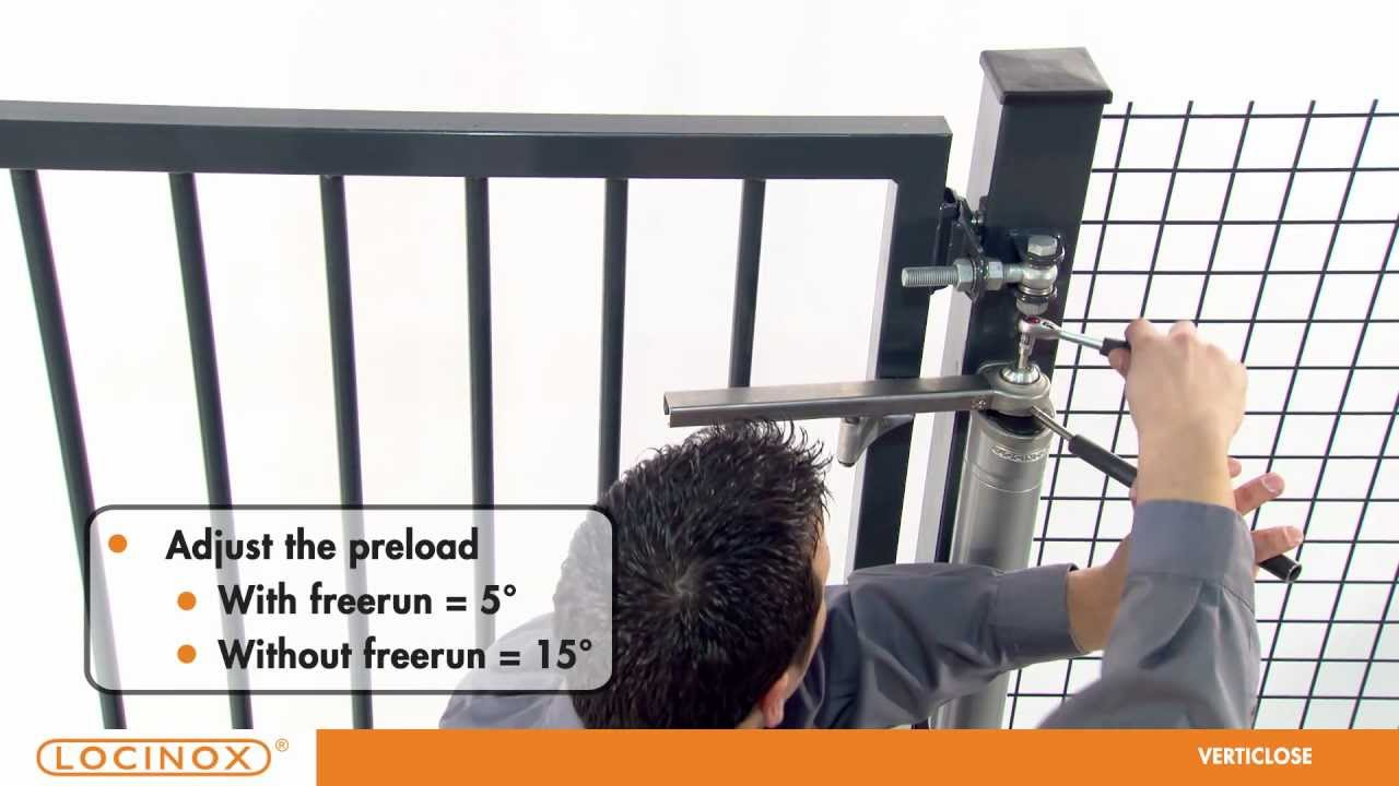 Locinox Verticlose Adjustable Gate Closer Youtube