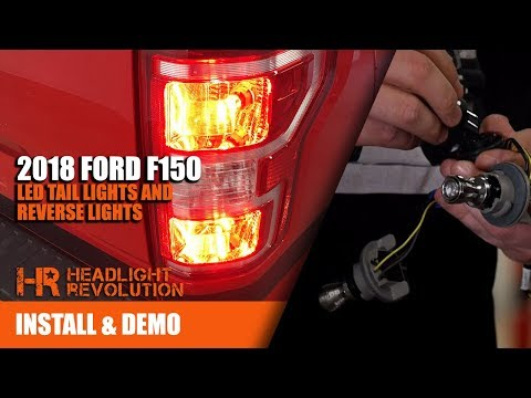 2018 f150 super bright led reverse, blinker and brake light bulbs upgrade  install - youtube  youtube