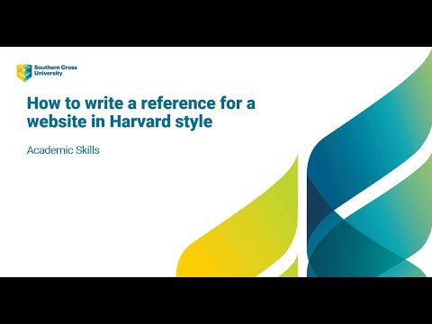 How To Write A Reference For A Website Using Harvard Referencing Style
